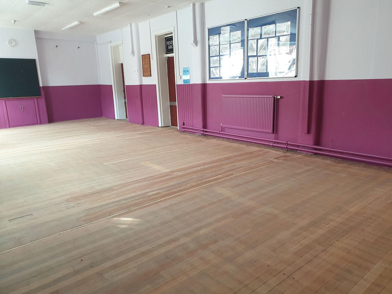 Hall before refurbishment